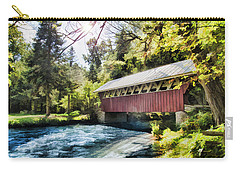 The Covered Bridge At The Red Mill Carry-all Pouch