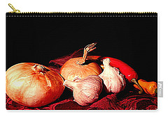 New Orleans Onions, Garlic, Red Chili Pepper Used In Creole Cooking A Still Life Carry-all Pouch by Michael Hoard