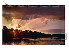 Carry-all Pouch featuring the photograph The Cumberland River by Chris Tarpening