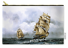 The Cutty Sark And The Red Clipper Carry-all Pouch