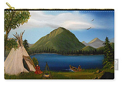 Carry-all Pouch featuring the painting Dawn Of Tohidu by Sheri Keith