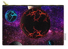 Carry-all Pouch featuring the digital art The Dead Solar System  by Naomi Burgess