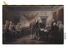 The Declaration Of Independence, July 4, 1776 Carry-all Pouch by John Trumbull