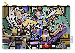 Carry-all Pouch featuring the painting The Dentist Is In Root Canal by Anthony Falbo