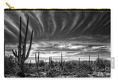 The Desert In Black And White Carry-all Pouch