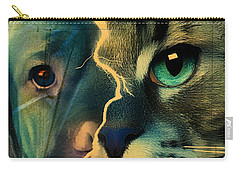 The Dog Connection -green Carry-all Pouch