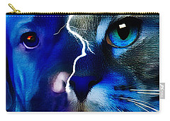 Carry-all Pouch featuring the digital art We All Connect by Kathy Tarochione