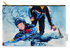 Carry-all Pouch featuring the painting The Domino Effect by Hanne Lore Koehler