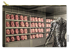 Carry-all Pouch featuring the digital art The Doppleganger by John Alexander