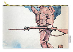 The Doughboy Stands Carry-all Pouch by Katherine Miller