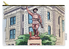 The Doughboy Statue Carry-all Pouch by Katherine Miller