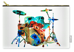 Rock And Roll Drums Carry-All Pouches