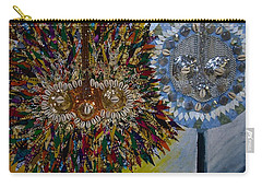 Carry-all Pouch featuring the tapestry - textile The Egungun by Apanaki Temitayo M