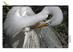 The Elegant Egret Carry-all Pouch by Lydia Holly
