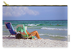 Carry-all Pouch featuring the photograph The Emerald Coast by Charles Beeler