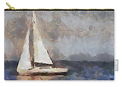 Carry-all Pouch featuring the painting The Evening Peace  by Dragica  Micki Fortuna