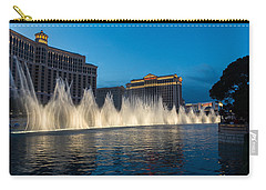 The Fabulous Fountains At Bellagio - Las Vegas Carry-all Pouch by Georgia Mizuleva