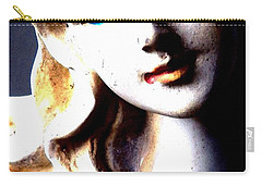 The Face Of A Woman Carry-all Pouch by Faith Williams