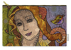 Carry-all Pouch featuring the digital art The Fairy Godmother by Barbara Orenya