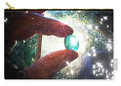 Carry-all Pouch featuring the photograph The Fairy Stone - Nature Angel  by Absinthe Art By Michelle LeAnn Scott