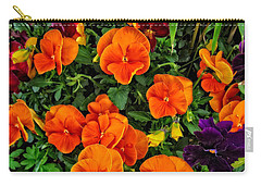 The Fall Pansies Carry-all Pouch