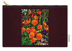 Fall Pansies Carry-all Pouch