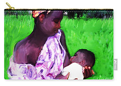 Carry-all Pouch featuring the painting The Feeding 2 by Vannetta Ferguson