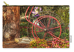 Carry-all Pouch featuring the photograph The Fire Hose Reel by Thom Zehrfeld