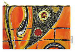 The Fires Of Charged Emotions Carry-all Pouch by Jolanta Anna Karolska