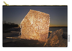 Carry-all Pouch featuring the photograph The First Ice ... by Juergen Weiss