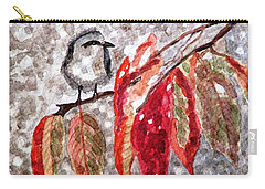 Carry-all Pouch featuring the painting The First Snow by Angela Davies