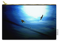 Carry-all Pouch featuring the photograph The Flight by Miroslava Jurcik