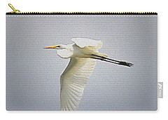 The Flight Of The Great Egret With The Stained Glass Look Carry-all Pouch