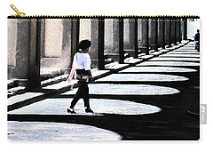 Carry-all Pouch featuring the photograph The Florence Arcade Fresco by Tom Wurl