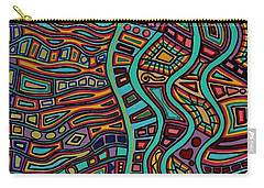 Carry-all Pouch featuring the painting The Flow by Barbara St Jean