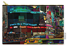 The Fluidity Of Light - Times Square Carry-all Pouch
