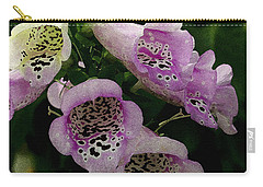 Carry-all Pouch featuring the photograph The Foxglove by James C Thomas