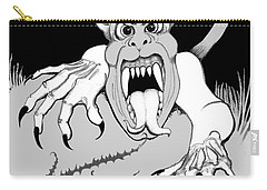 Carry-all Pouch featuring the digital art The Fox's Fiend  by Carol Jacobs