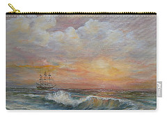 Sunlit  Frigate Carry-all Pouch by Luczay
