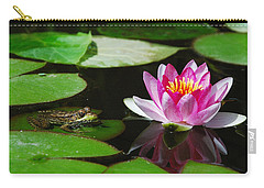 The Frog And The Lily Carry-all Pouch