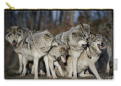 Carry-all Pouch featuring the photograph The Gang by Wolves Only