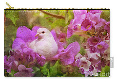 The Garden Of White Dove Carry-all Pouch by Olga Hamilton