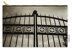 Carry-all Pouch featuring the photograph The Gate In Sepia by Steven Milner