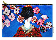 Carry-all Pouch featuring the tapestry - textile The Geisha by Apanaki Temitayo M