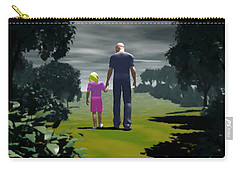 Carry-all Pouch featuring the digital art The Gift Of Being 'daddy' by John Alexander
