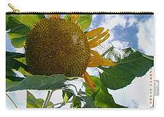 Carry-all Pouch featuring the photograph The Gigantic Sunflower by Verana Stark