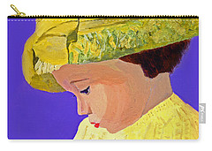 Carry-all Pouch featuring the painting The Girl With The Straw Hat by Rodney Campbell