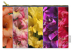The Gladioli Of Summer Carry-all Pouch by Dora Sofia Caputo Photographic Art and Design