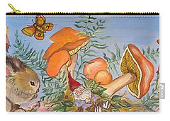 The Gnome Garden Carry-all Pouch by Leslie Manley