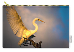 The Golden Egret Carry-all Pouch